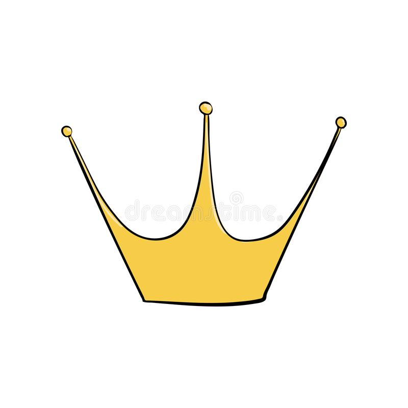 Tête d'or Un symbole d'autorité Casque du roi Icône dénotant le succès et les insignes illustration de vecteur