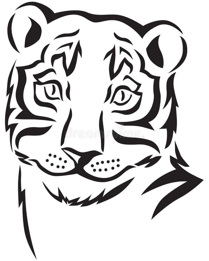 Tête d'un tigre illustration libre de droits