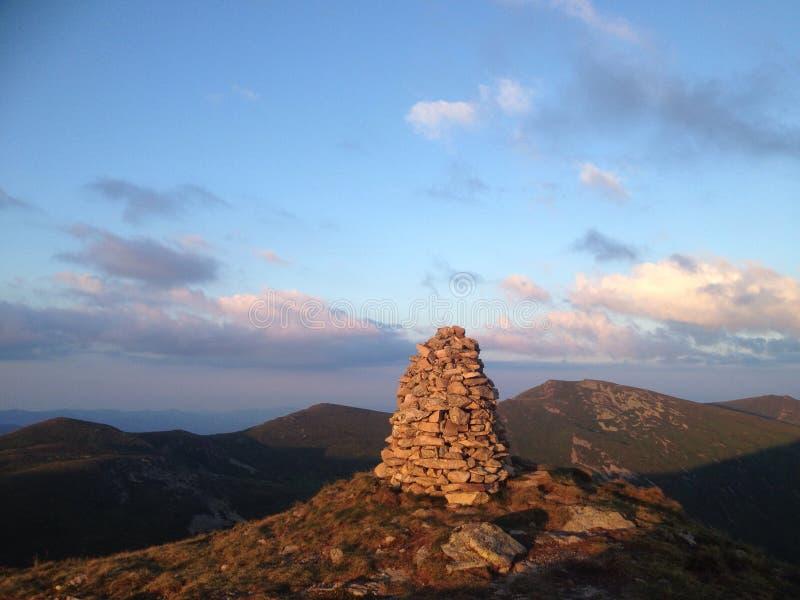 Tête d'une montagne photos libres de droits