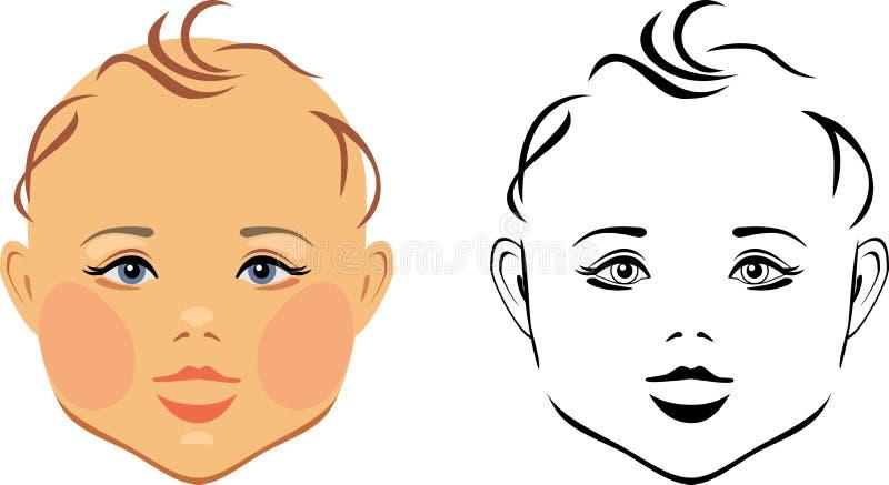 Tête de bébé illustration libre de droits