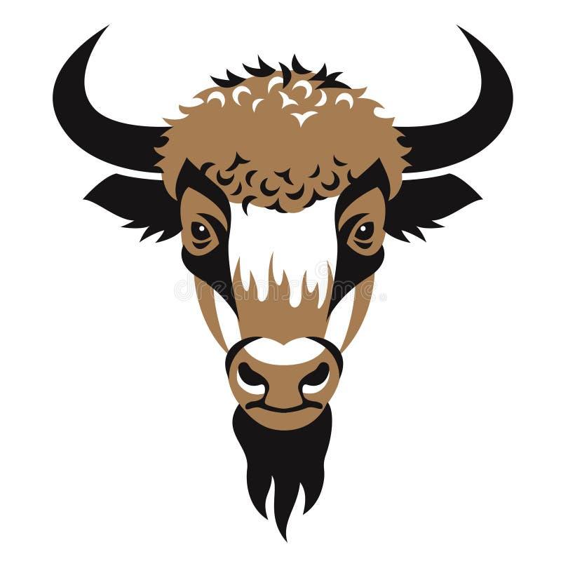 Tête de bison illustration de vecteur