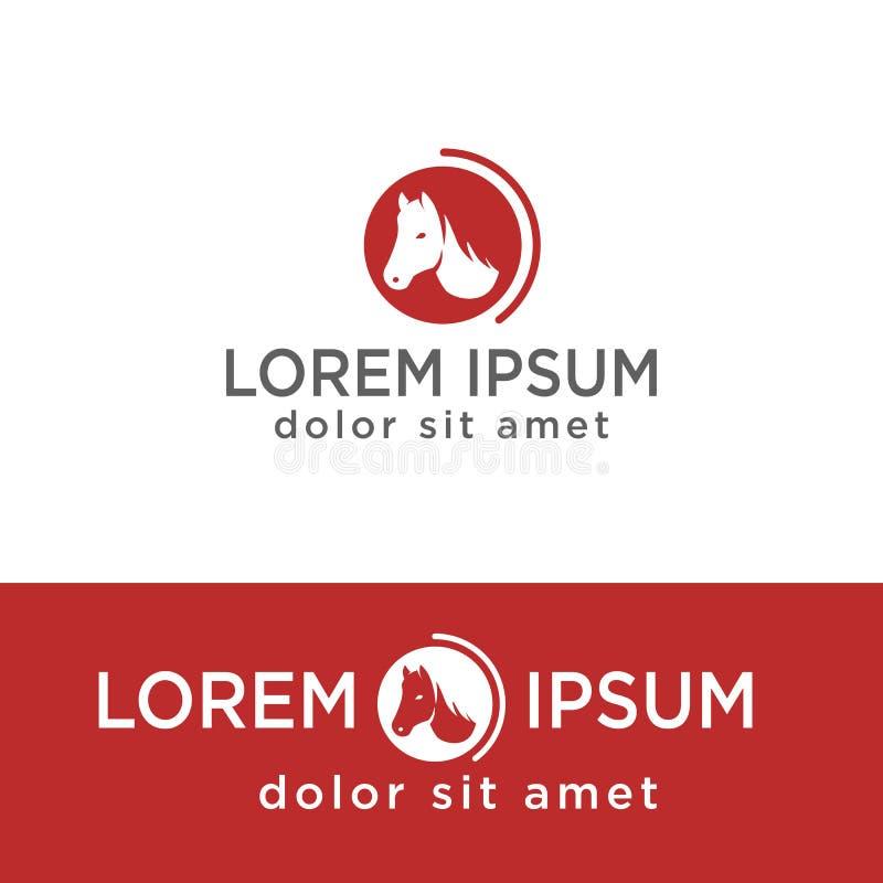 tête de calibre créatif de logo de cheval, élément d'isolement par icône illustration stock