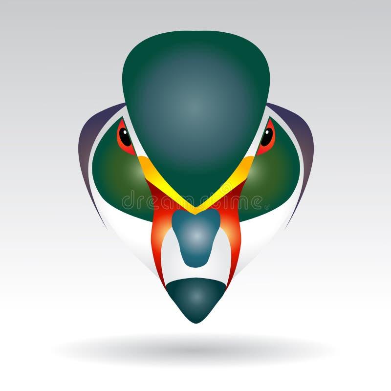 Tête de canard de mandarine illustration libre de droits