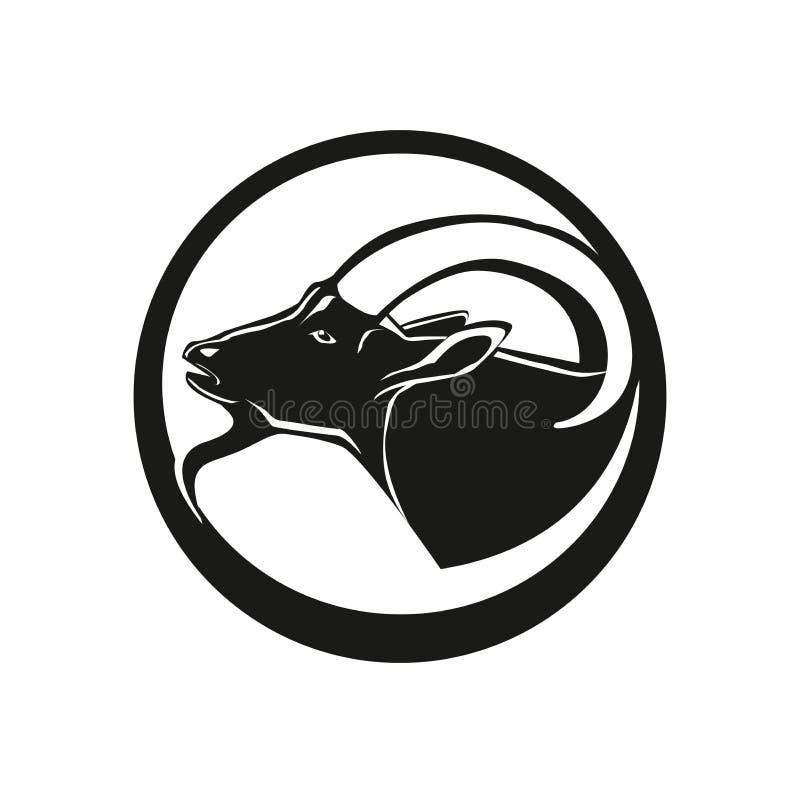 Tête de chèvre illustration stock