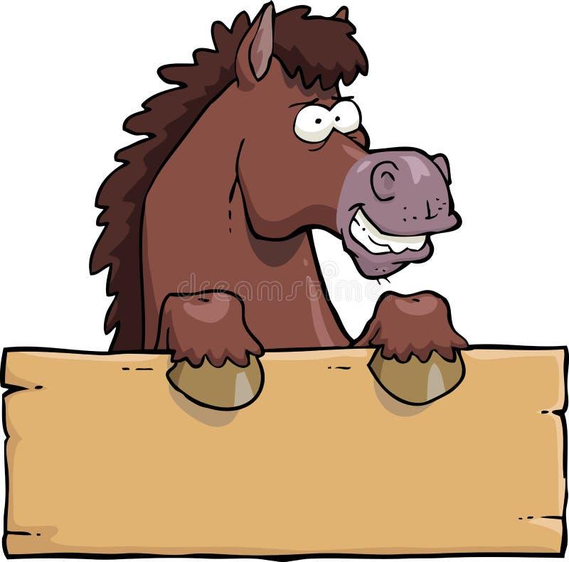 Tête de cheval de bande dessinée illustration stock