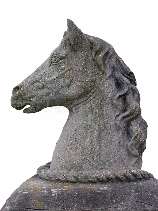 Tête de cheval en pierre photo stock