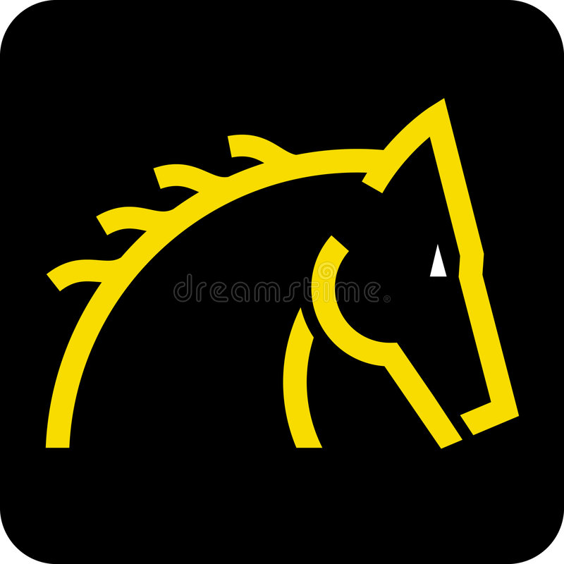 Tête de cheval (vecteur) illustration stock