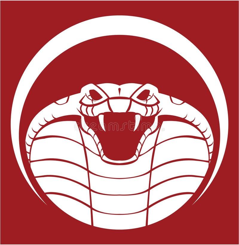Tête de cobra illustration libre de droits