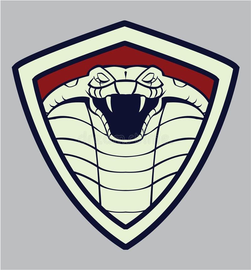 Tête de cobra illustration de vecteur