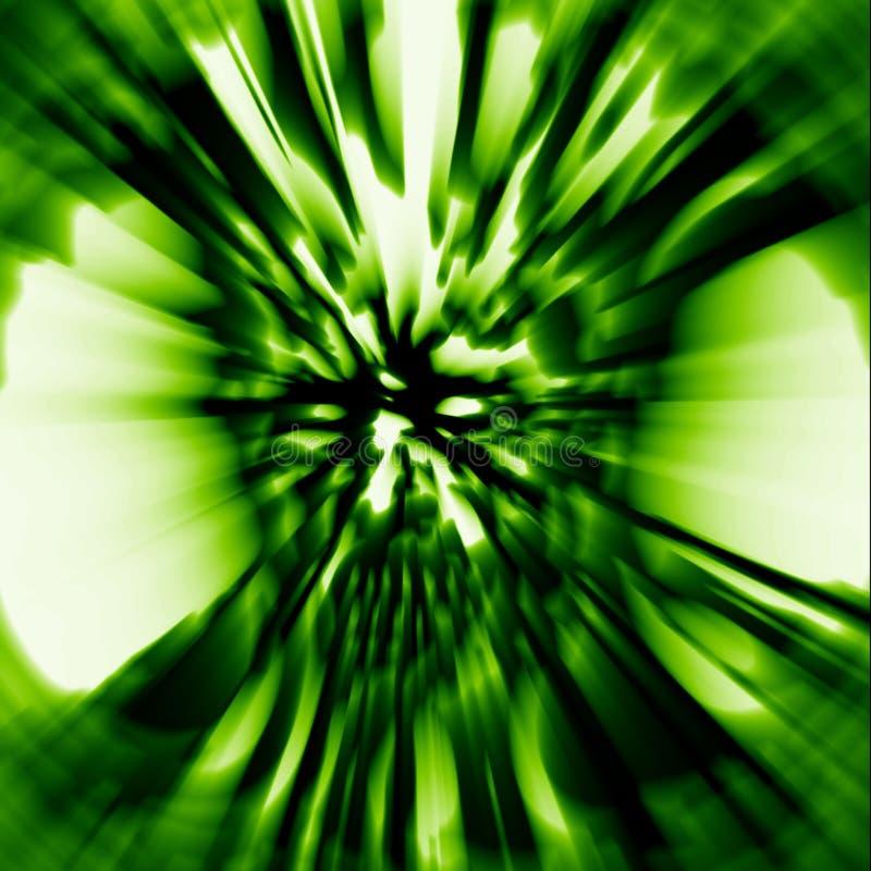 Tête de colère de couverture de fantôme dans la couleur verte illustration de vecteur