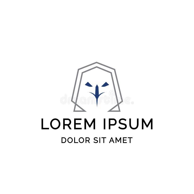 Tête de conception aigle de calibre de logo de style de schéma illustration libre de droits