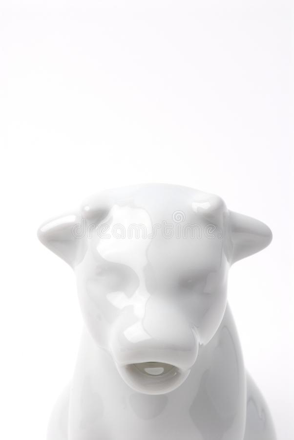 Tête de crémeuse de vache photographie stock