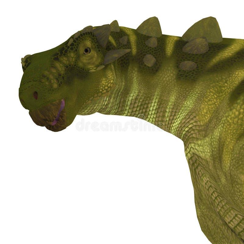 Tête de dinosaure de Talarurus illustration de vecteur