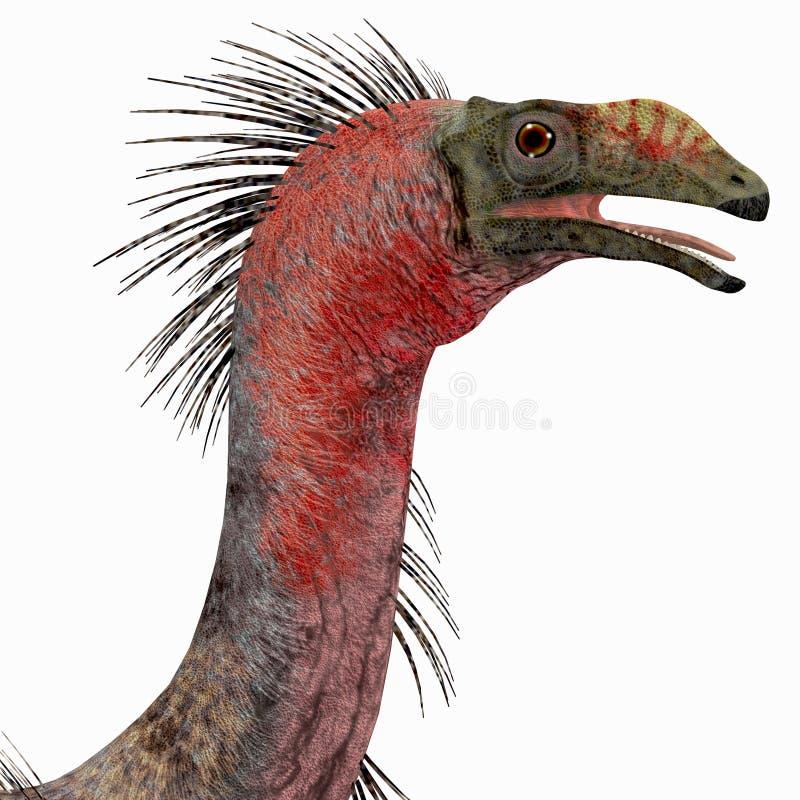 Tête de dinosaure de Therizinosaurus illustration libre de droits