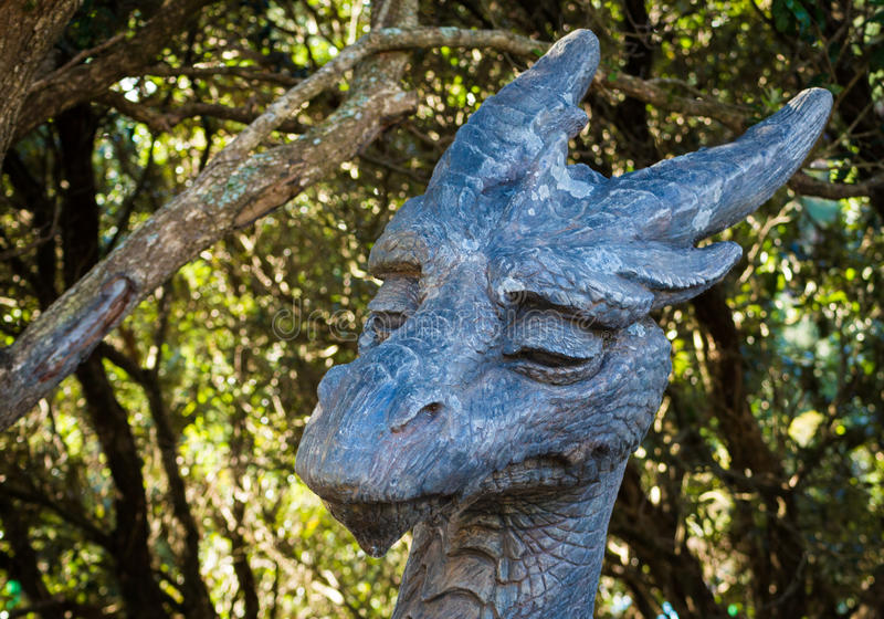 Tête de dragon photo stock