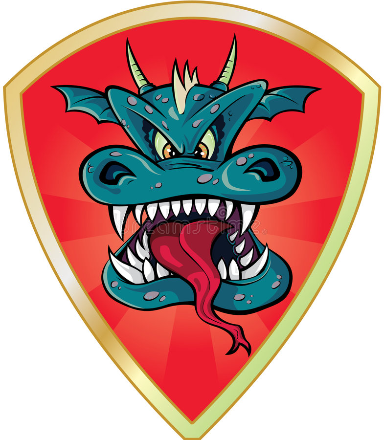 Tête de dragon illustration de vecteur