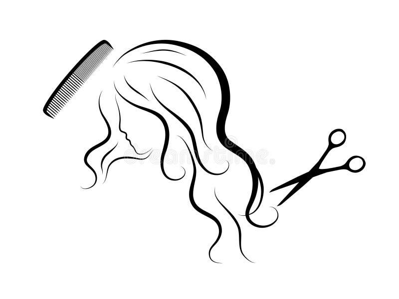 Tête de femme illustration stock
