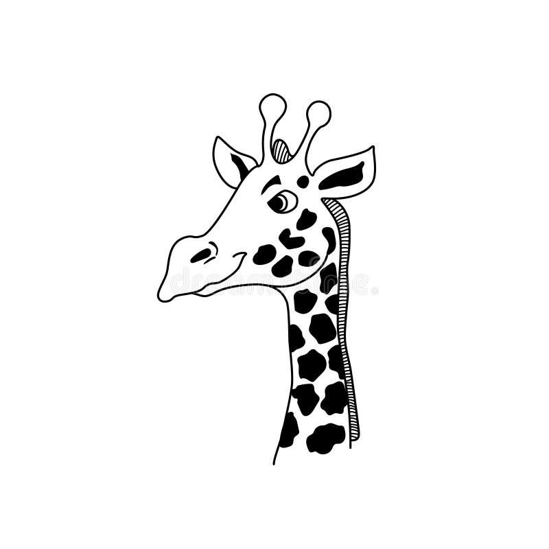 Tête de girafe de vecteur illustration de vecteur