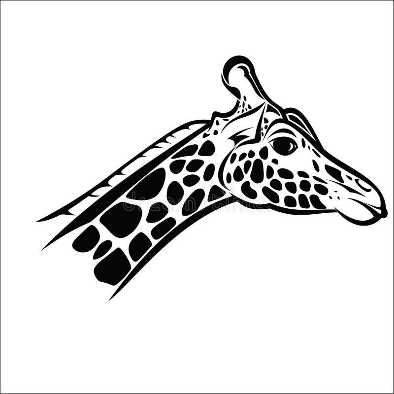 Tête 2 de giraffe illustration de vecteur