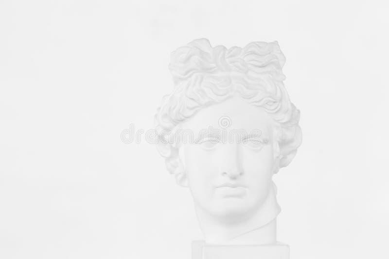 Tête de gypse Apollo Belvedere photo libre de droits