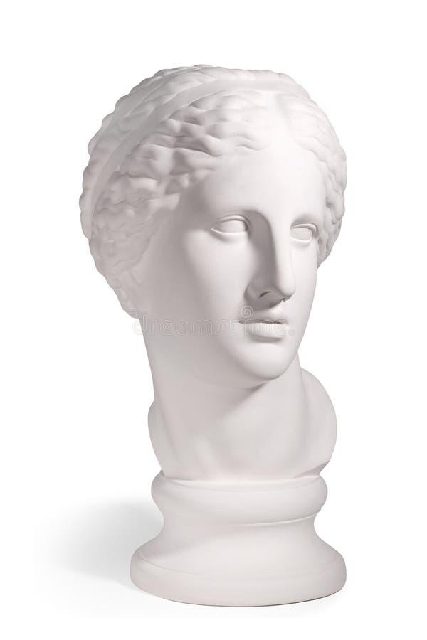 Tête de gypse de l'homme antique de Rome photos libres de droits