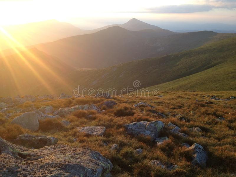 Tête de la montagne image libre de droits