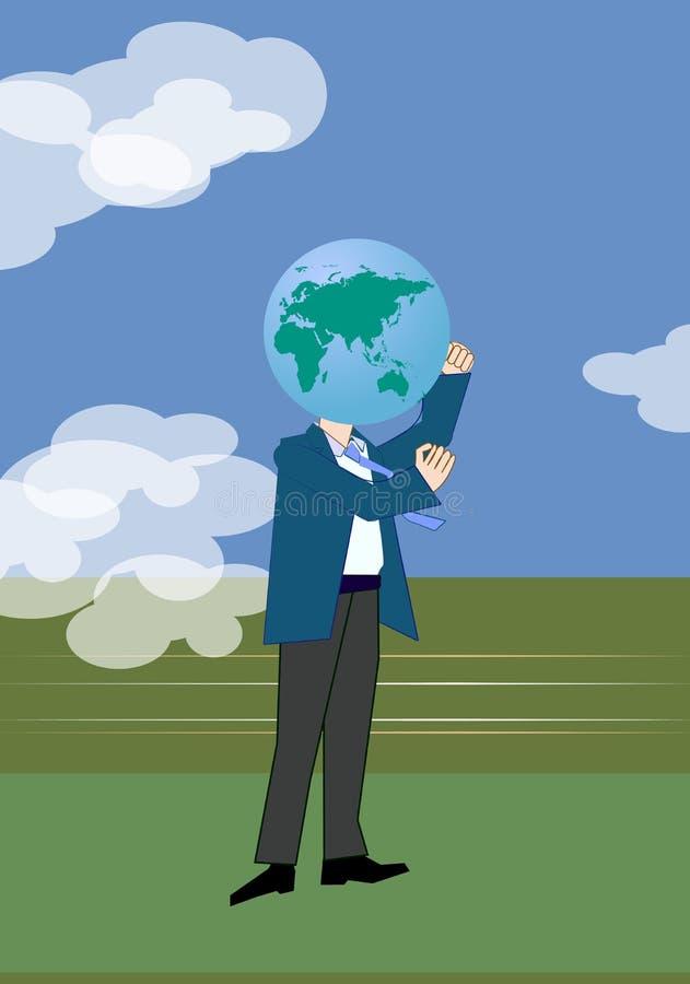 Tête de la terre illustration stock