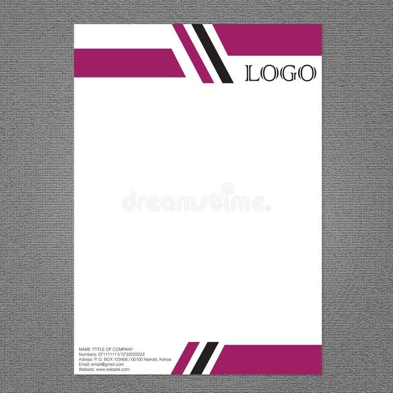 Tête de lettre pour l'usage de conception illustration libre de droits