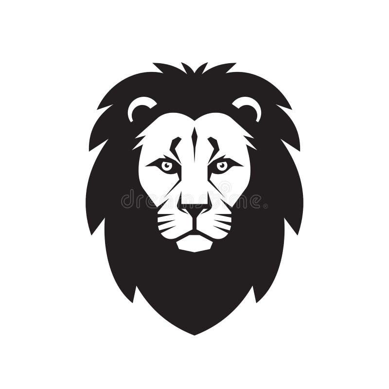 Tête de lion - illustration de concept de signe de vecteur Lion Head Logo Illustration sauvage de graphique de tête de lion illustration libre de droits