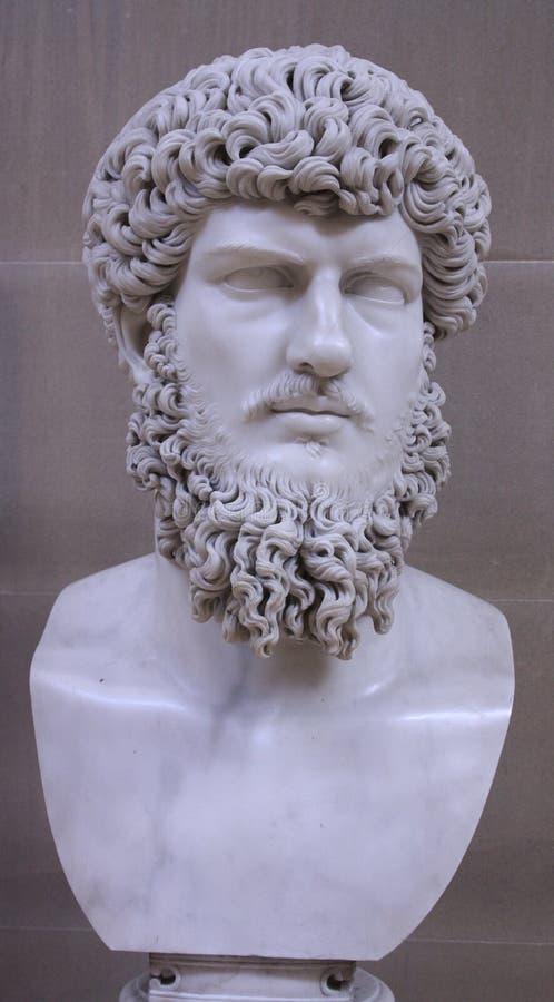 Tête de marbre d'un romain photo libre de droits