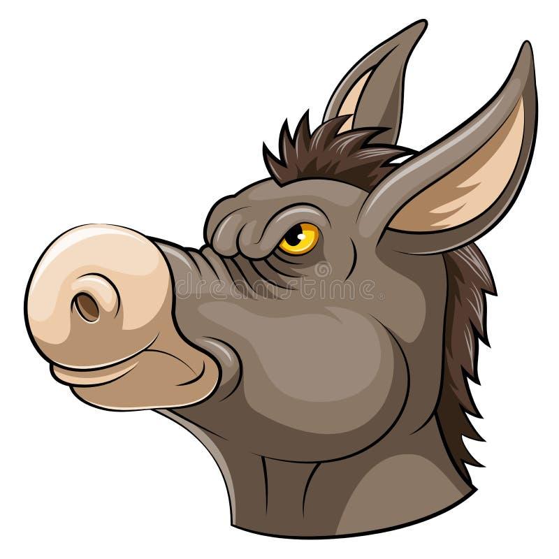 Tête de mascotte d'un âne illustration libre de droits
