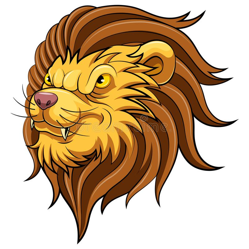 Tête de mascotte d'un lion illustration stock