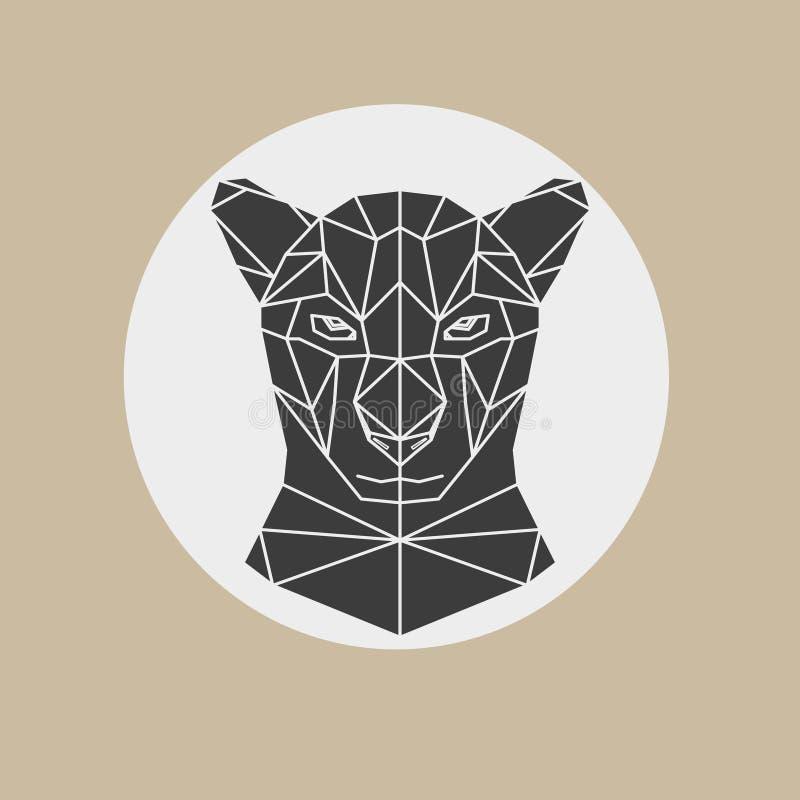 Tête de panthère noire illustration de vecteur
