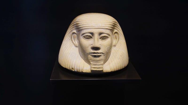 Tête de pharaon, musée égyptien photos stock