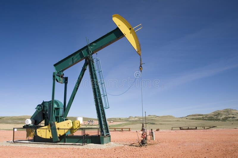 Tête de pompe de puits de pétrole image libre de droits