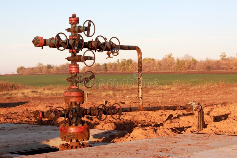 Tête de puits de pétrole photos stock