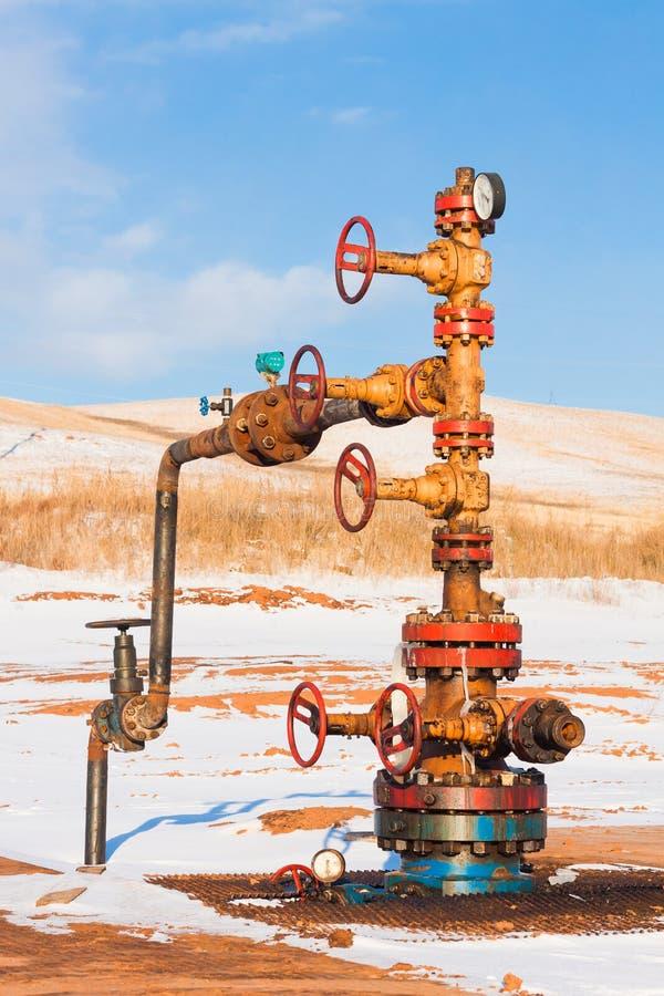 Tête de puits de pétrole image stock