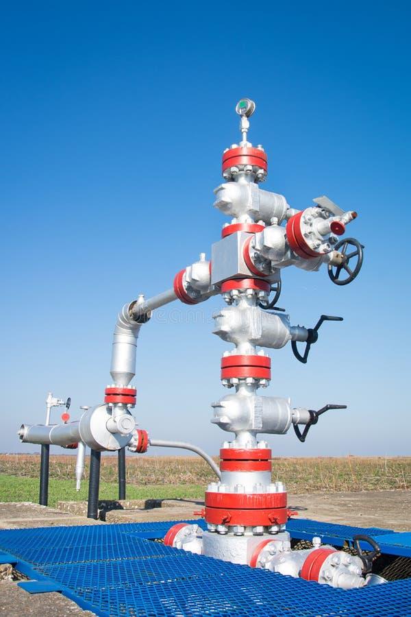 Tête de puits de production image libre de droits
