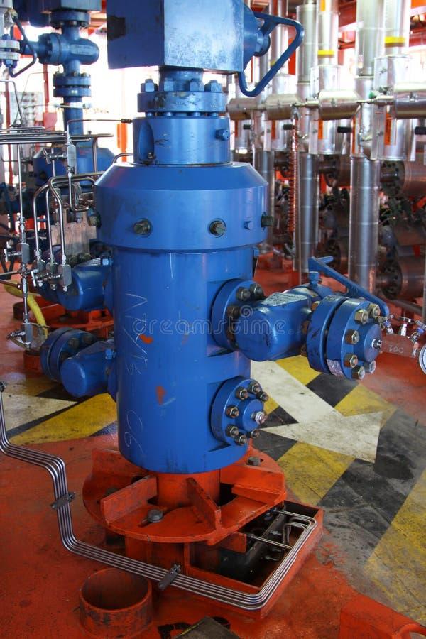 Tête de puits de production photographie stock