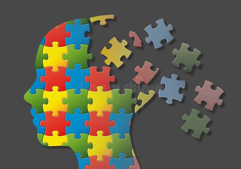 Tête de puzzle illustration de vecteur