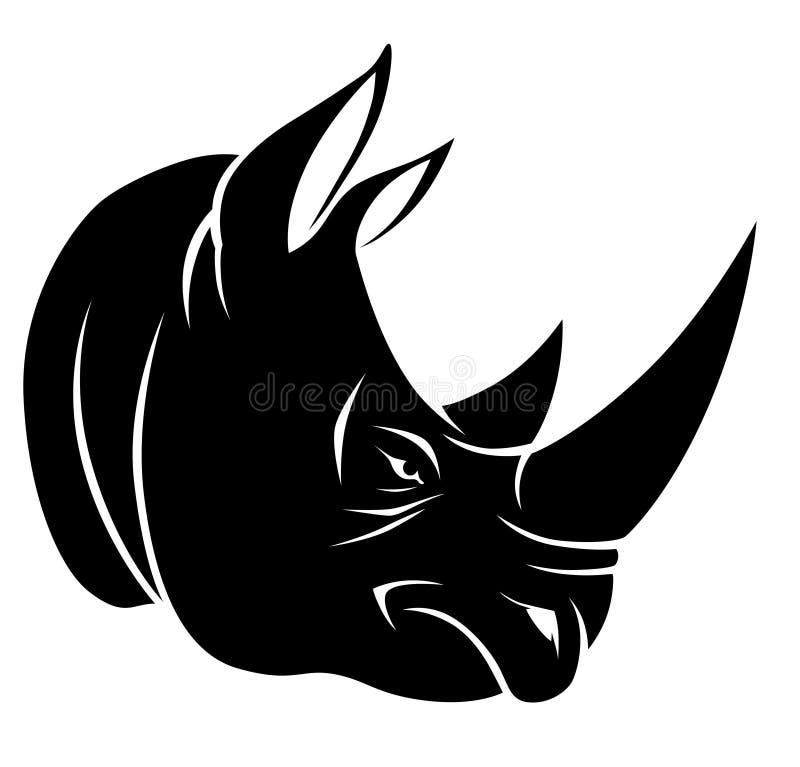 Tête de rhinocéros illustration stock