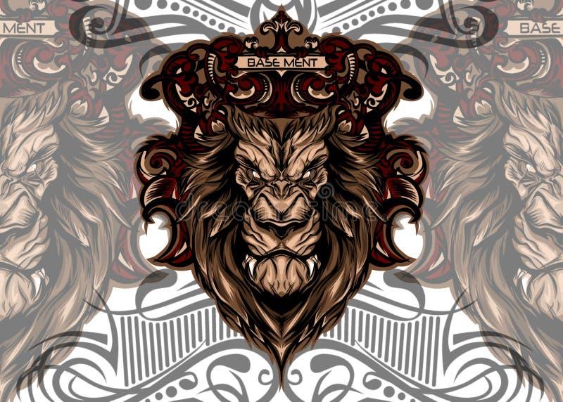 Tête de roi de lion photographie stock libre de droits