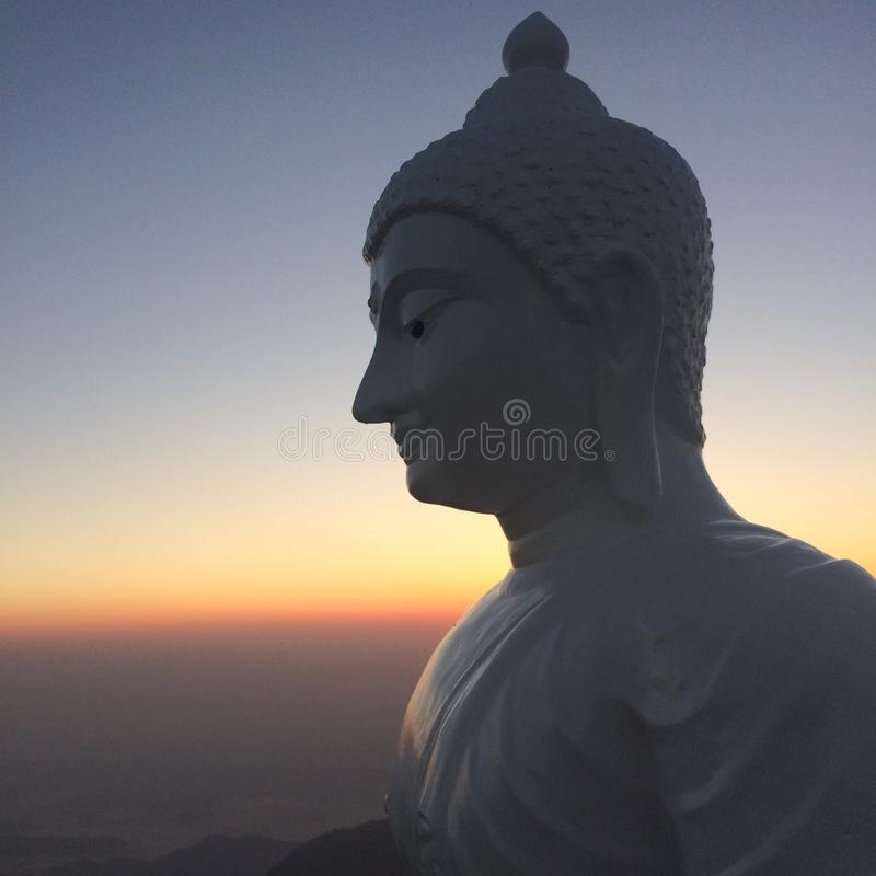 Tête de statue de Bouddha photos stock