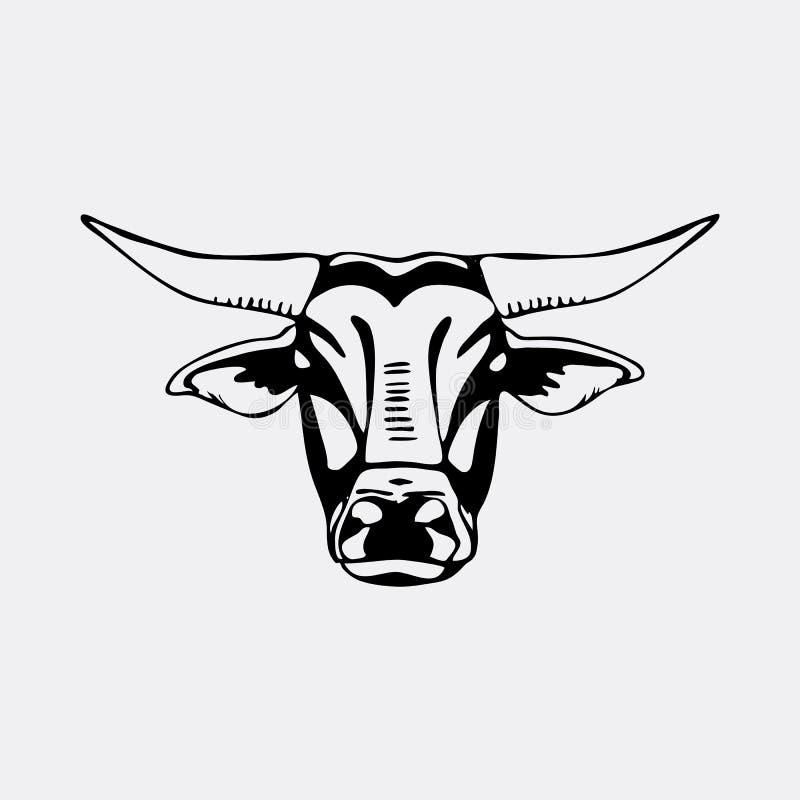 tête de taureau de pochoir illustration libre de droits