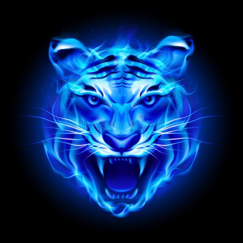 Tête de tigre du feu illustration de vecteur