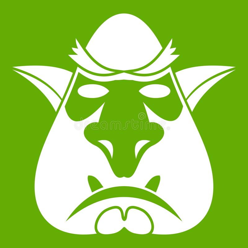 Tête de vert d'icône de troll illustration stock