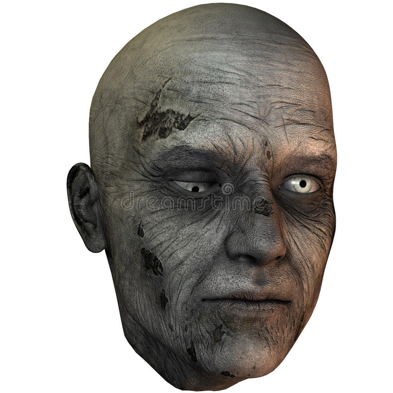 Tête de zombi illustration stock