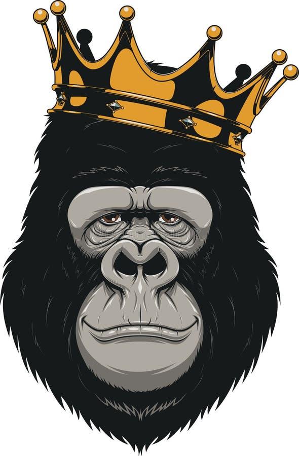 Tête drôle de gorille illustration de vecteur