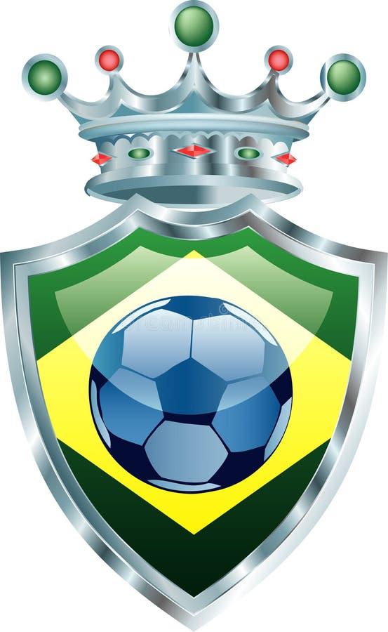 Tête du Brésil illustration stock