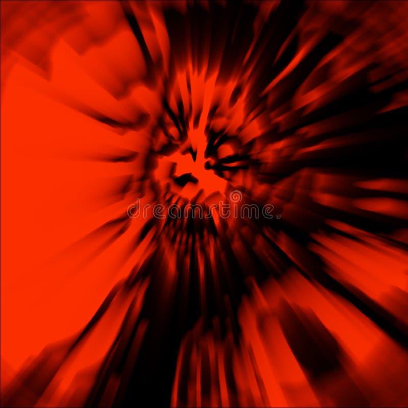 Tête effrayante de femme de zombi avec les cheveux en désordre Illustration dedans illustration de vecteur